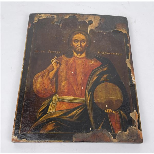 Antique Russian Painted Icon