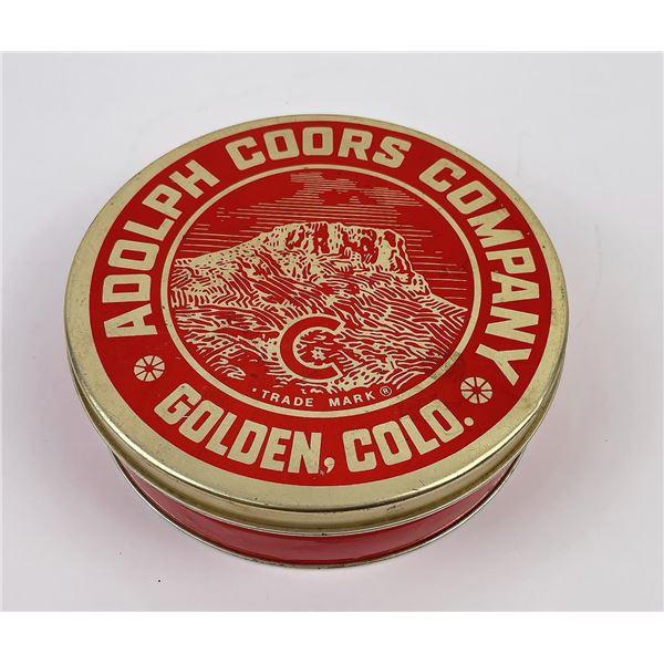 Adolph Coors Colorado Tin