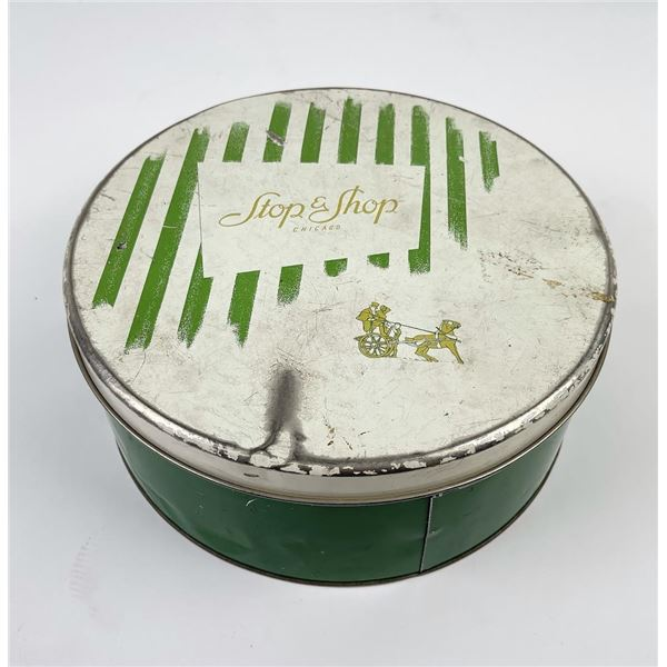 Antique Stop and Shop Chicago Biscuit Candy Tin