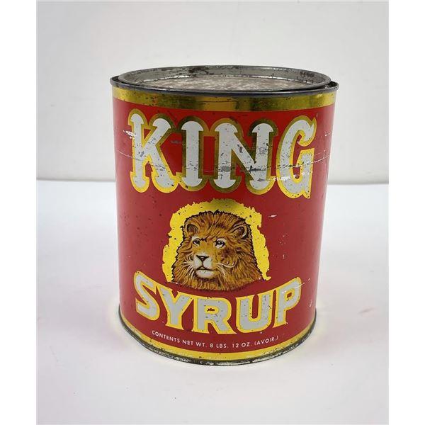 Antique King Syrup Lion Tin