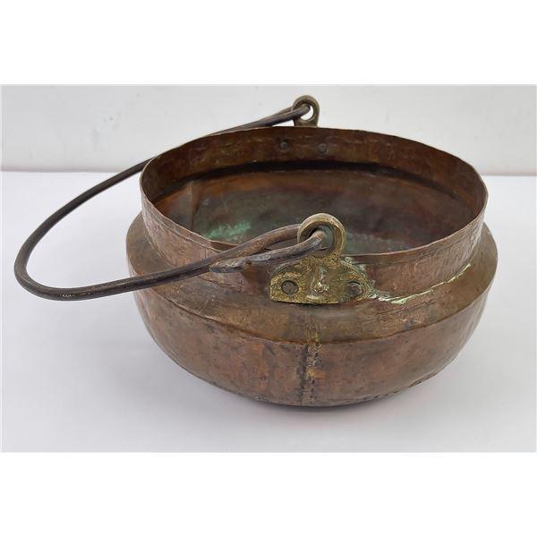 Antique Persian Ottoman Dovetailed Copper Pot