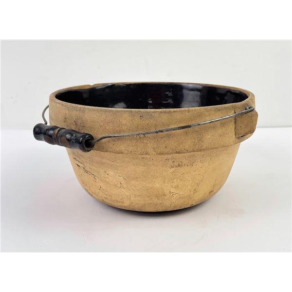 Antique Stoneware Cooking Pot