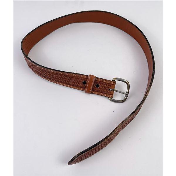 Vintage Vogt Tooled Leather Belt Size 34