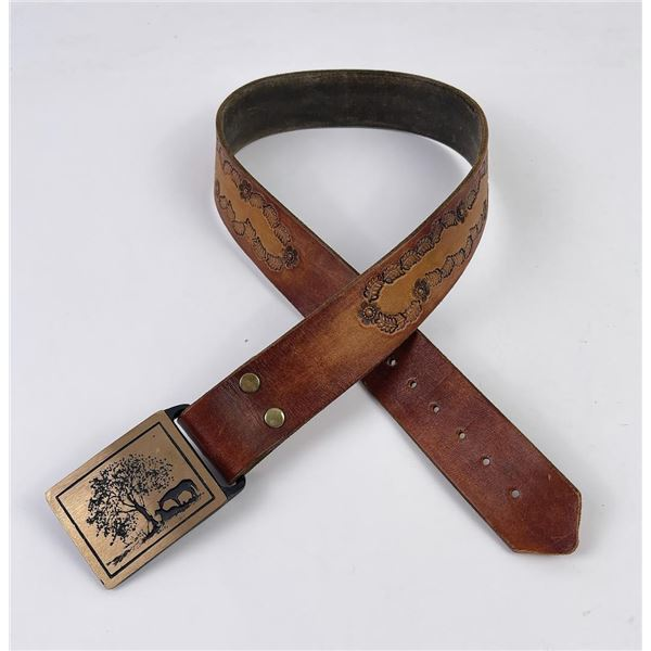 Vintage Montana Cowboy Belt and Buckle
