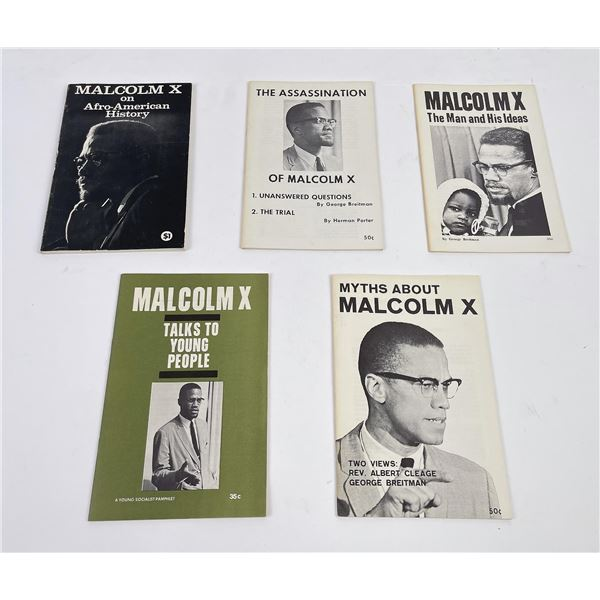 Vintage Malcolm X Books Pamphlets