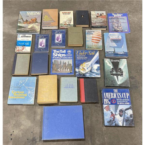 Group of Sailing Sailboat Books