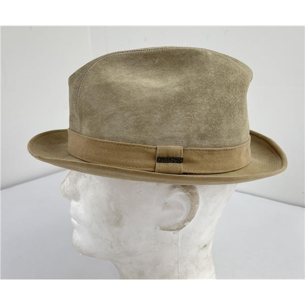 Vintage Stetson Suede Leather Fedora Size 7