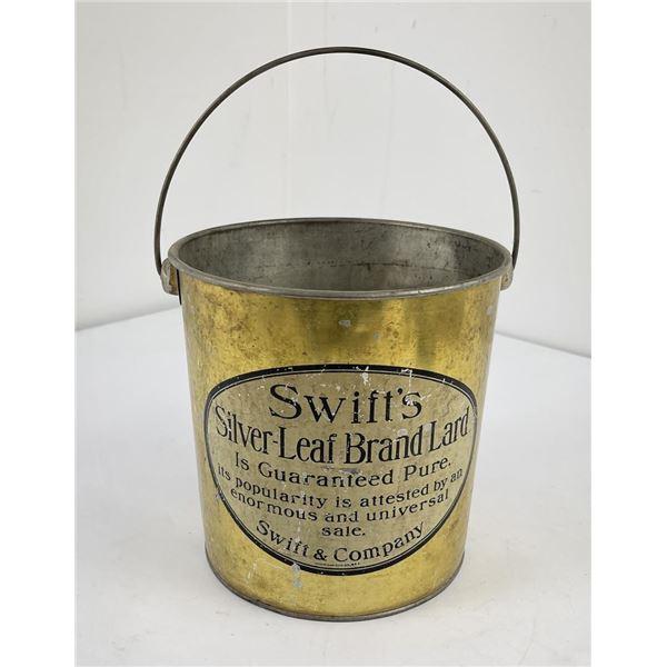 Swift's Silver Leaf Lard Tin