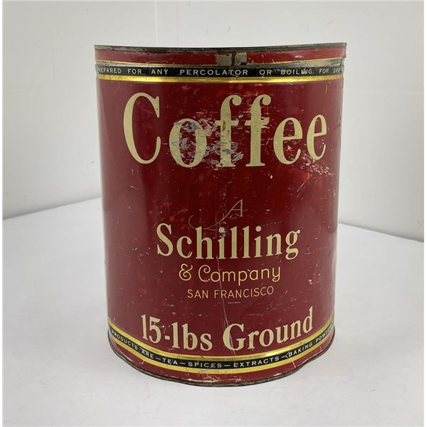 Antique Schilling Coffee Tin Can