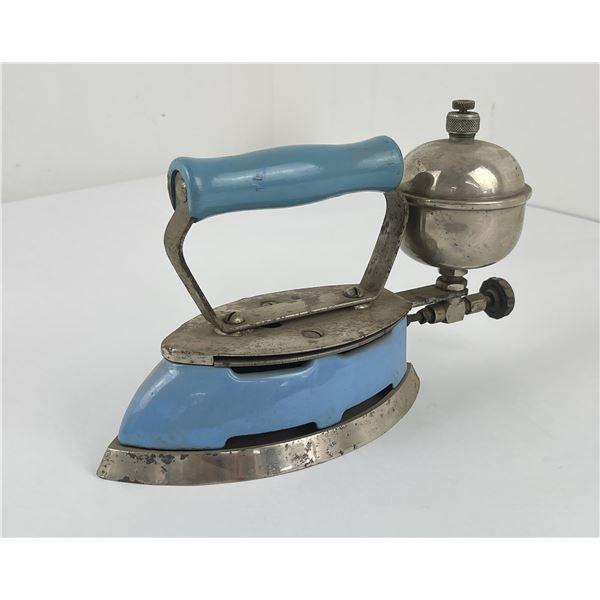 Antique Blue Coleman Iron