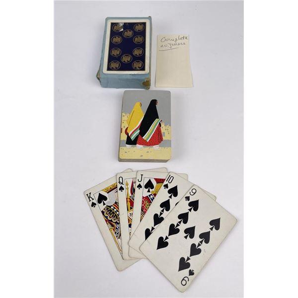 English Ovals Southwestern Pattern Playing Cards