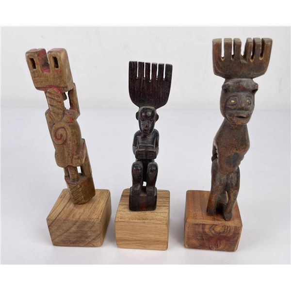 Set of 3 Indigenous Combs