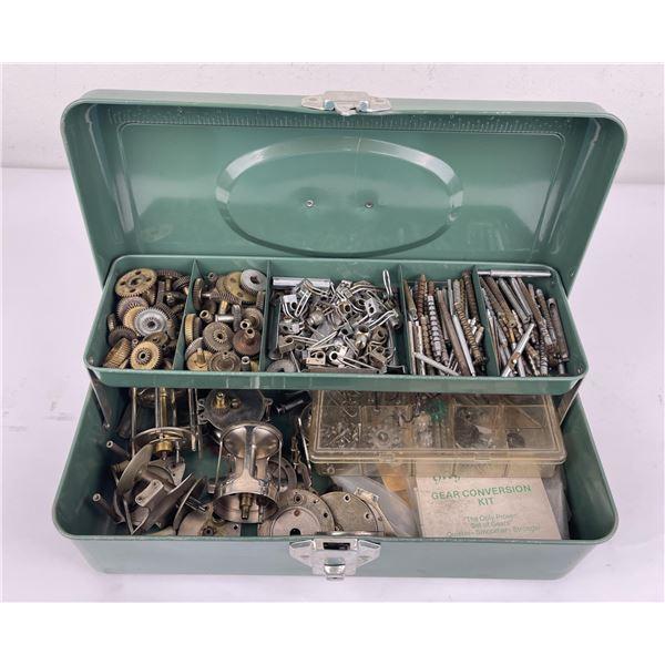 Tackle Box Full of Fishing Reel Parts