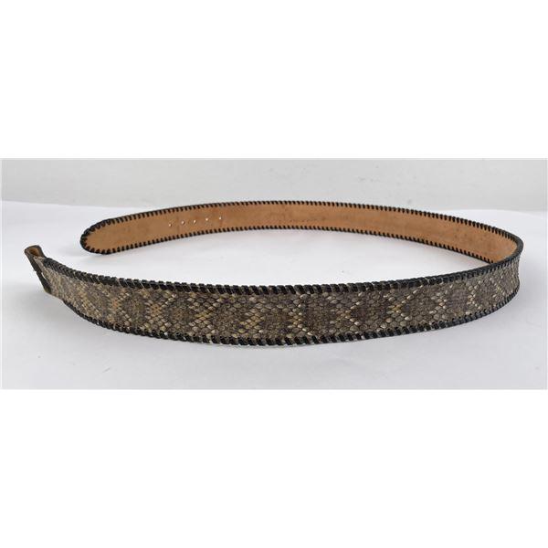 Montana Rattlesnake Skin Cowboy Belt