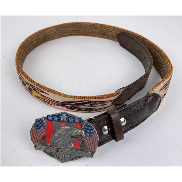 Harley Deer Lodge Prison Montana Horsehair Belt