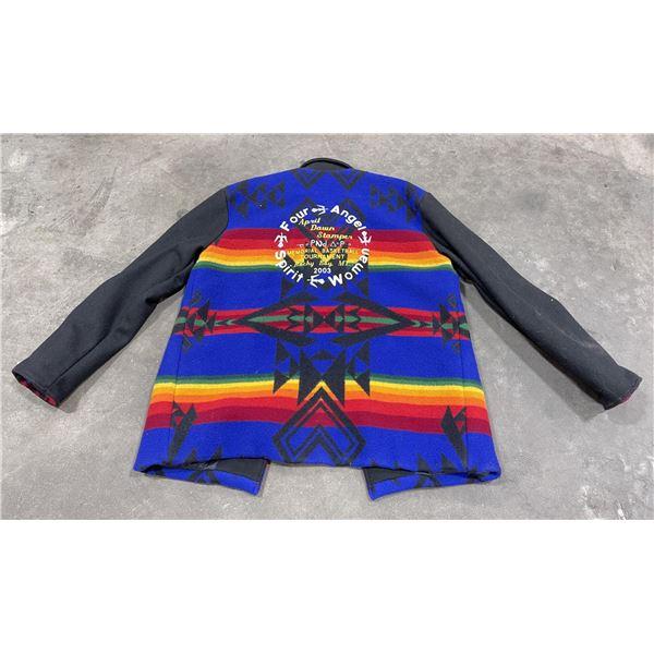 Montana Indian Basketball Blanket Jacket