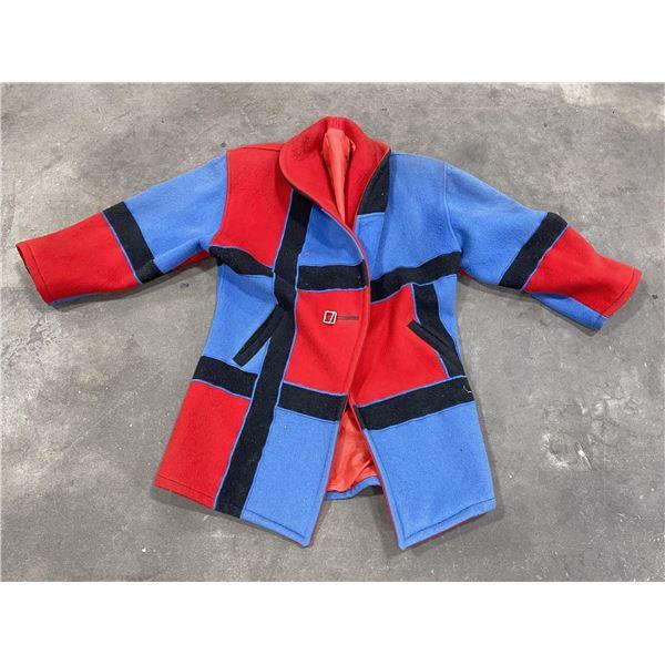 Mid Century Color Block Wool Jacket