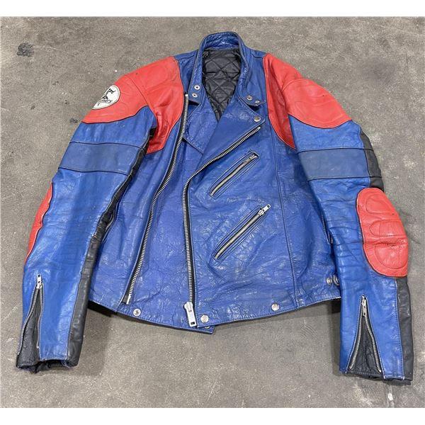 Vintage Manx Leathers Cafe Racer Motorcycle Jacket