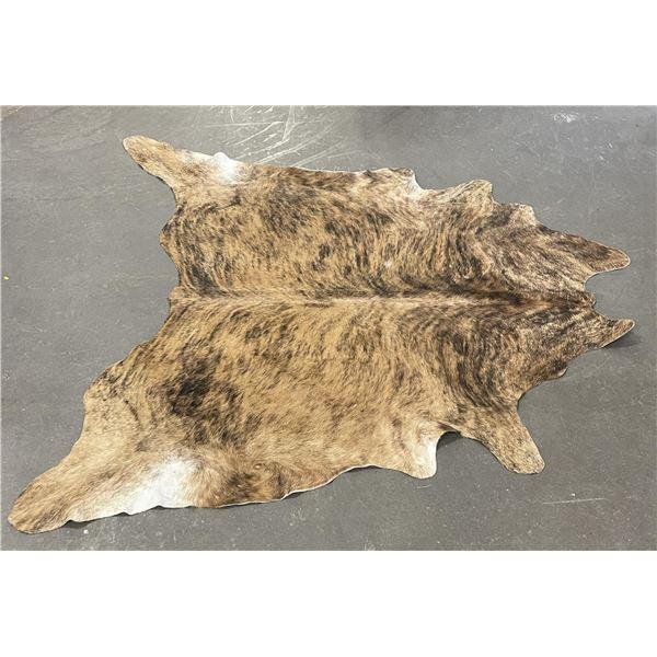 Tanned Brindle Steerhide Steer Bull Cow Rug