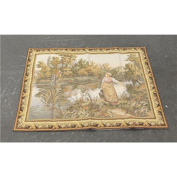 European Hooked Tapestry
