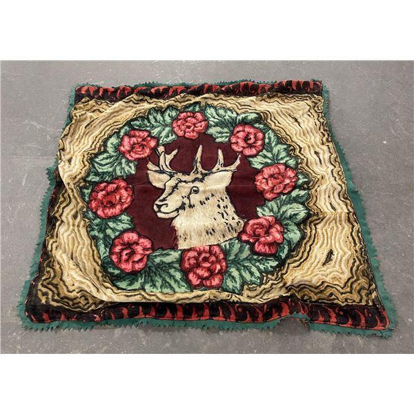 Antique Elk Wool Sleigh Lap Blanket