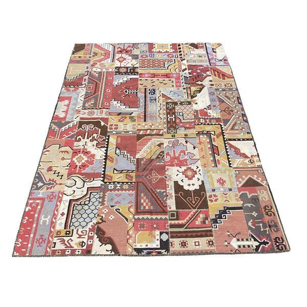 Ankara Dhurrie Rug Persian Oriental Patch Rug