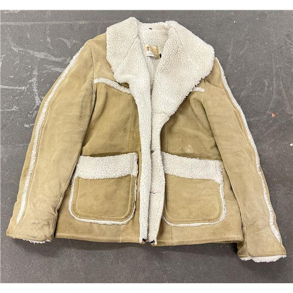Marlboro Shawl Collar Sheepskin Shearling Jacket