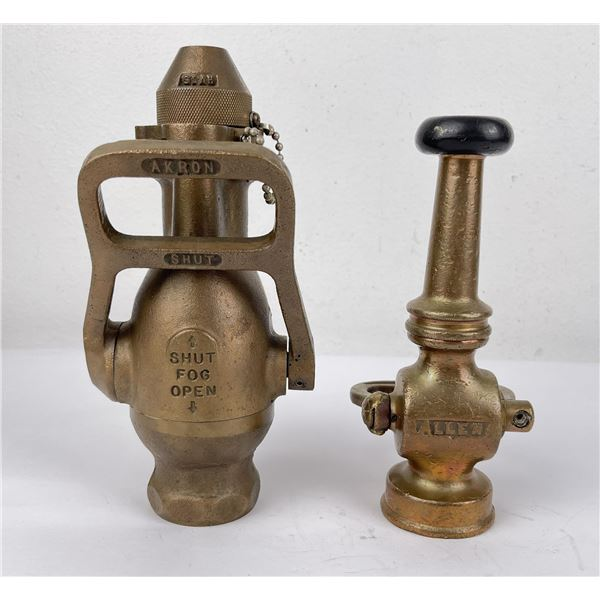 Pair of Vintage Fire Nozzles