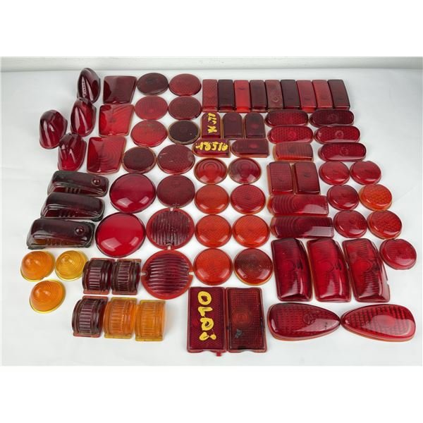 Group of Antique Glass Car Lenses