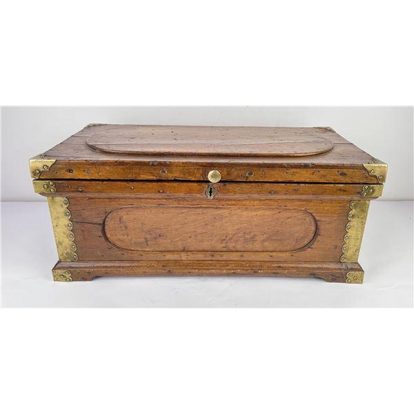 Antique Carpenters Tool Box Chest