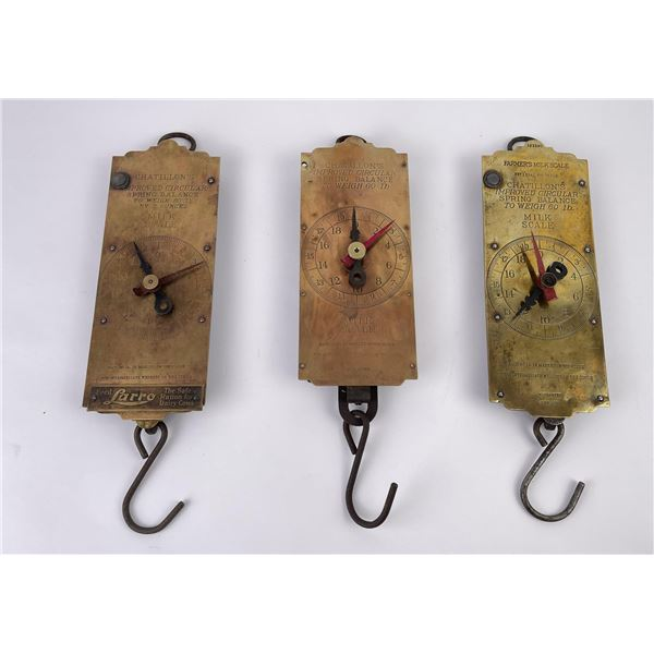3 Antique Chatillon's Milk Scales