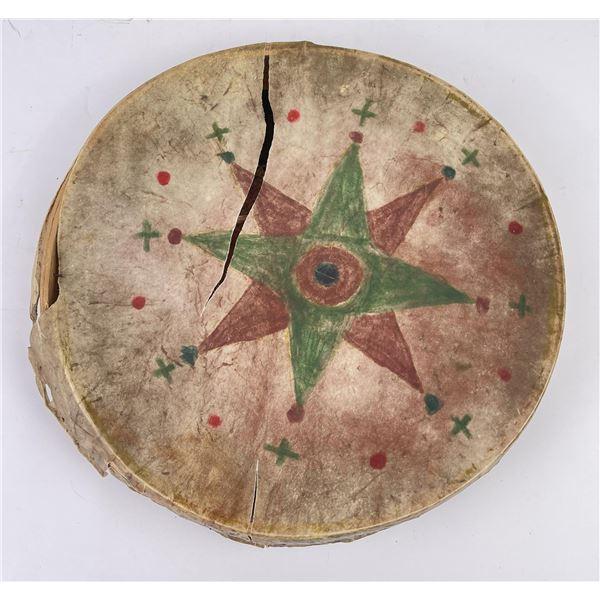 Antique Plains Indian Painted War Drum