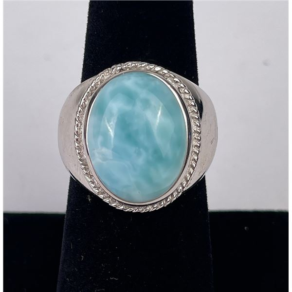 Sterling Silver Persian Turquoise Ring