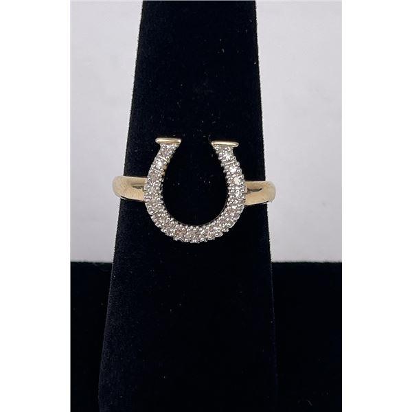 14k Yellow Gold Horseshoe Ring