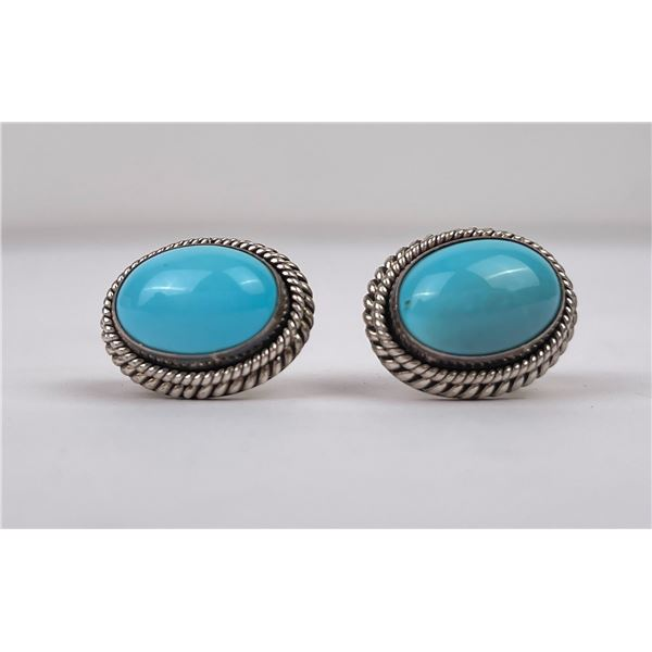 Artie Yellowhorse Sterling Turquoise Earrings