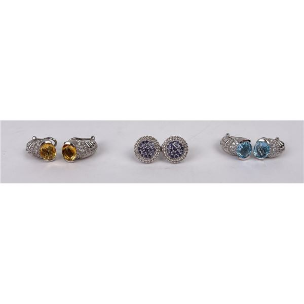 3 Sets of Judith Ripka Earrings