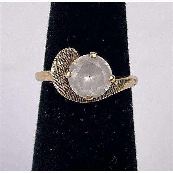 10k Yellow Gold Quartz Ring