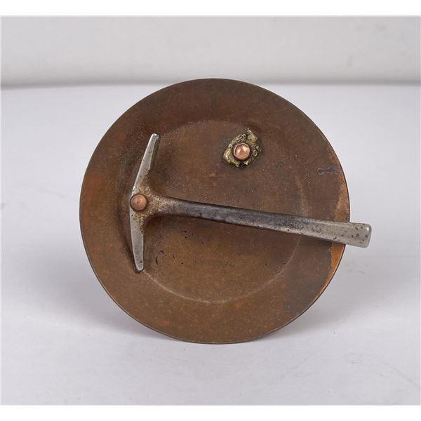 Butte Montana Gold Pan Pick Axe Paperweight