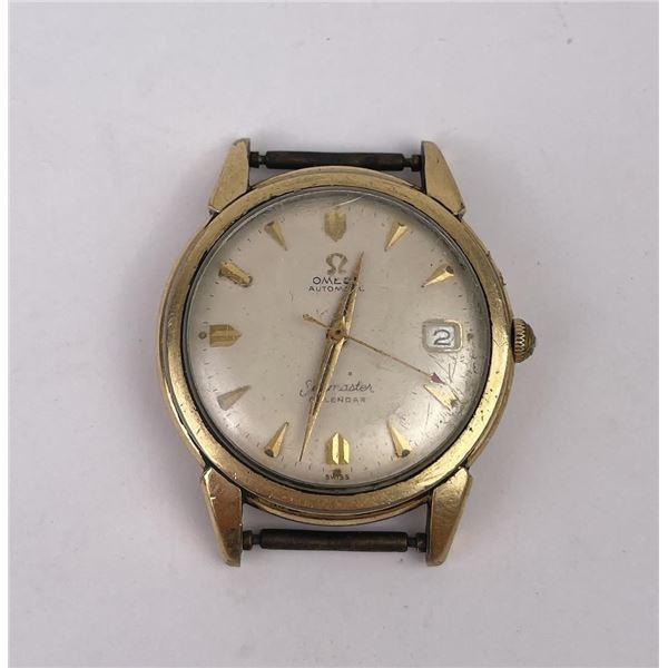 14k Gold Filled Omega Seamaster Calendar Watch