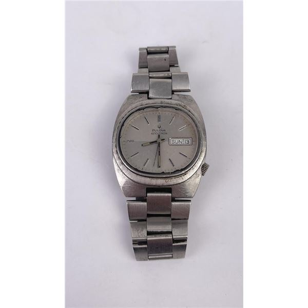 Bulova Accutron Stainless Steel Tuning Fork Watch