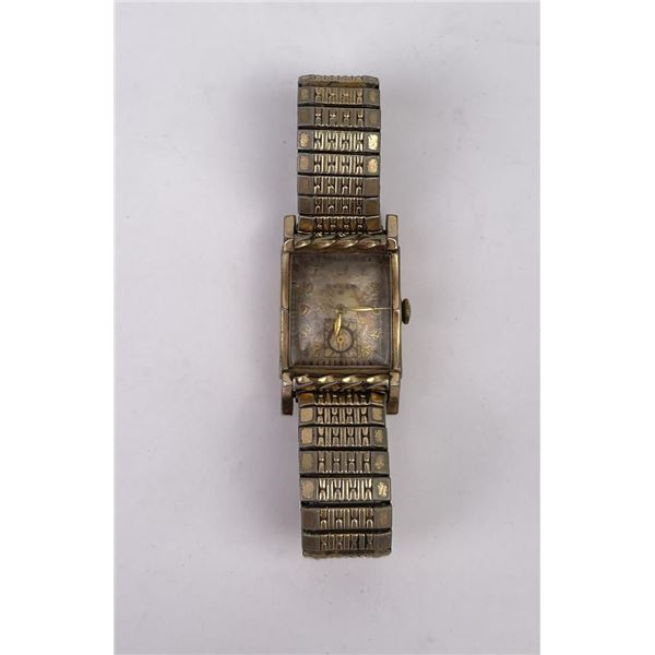 Art Deco Gruen Tank Watch Mens Wristwatch