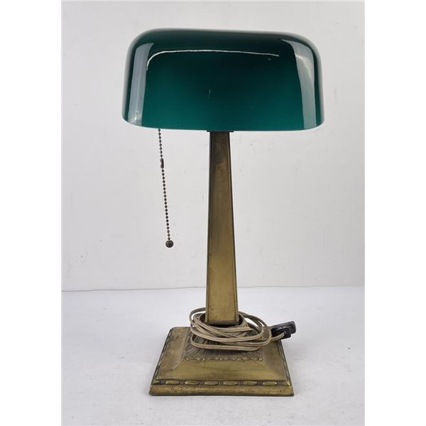 Antique Emeralite Bankers Student Lamp
