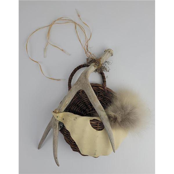 Indian Made Deer Horn Basket