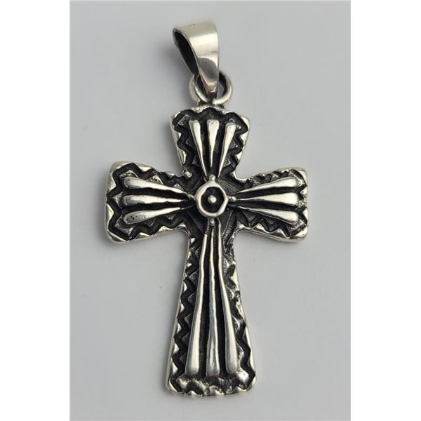 Mexico Sterling Silver Cross Pendant
