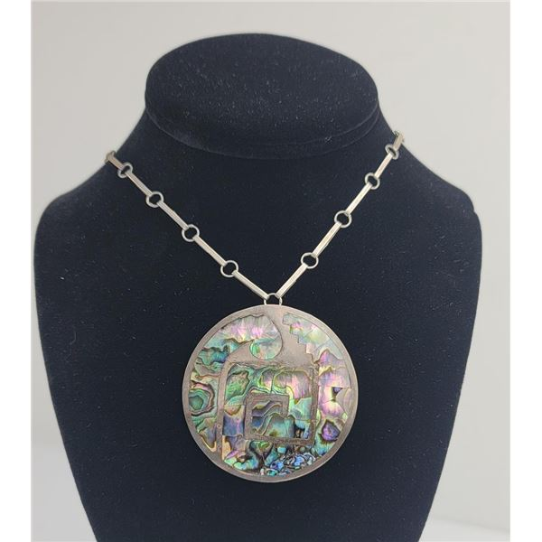 Taxco Sterling Silver Abalone Necklace