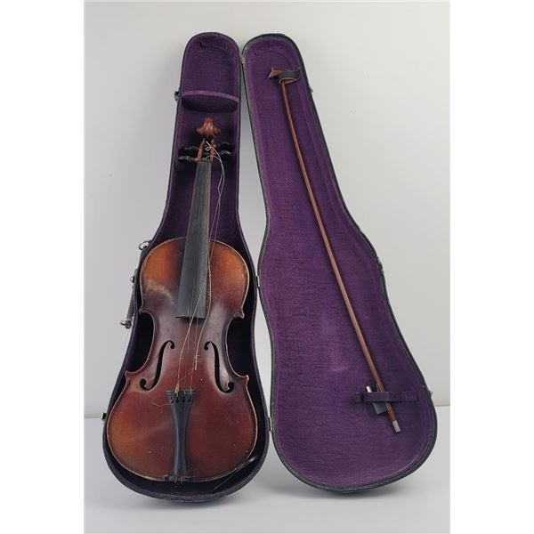 Antique Violin in Case with Bow