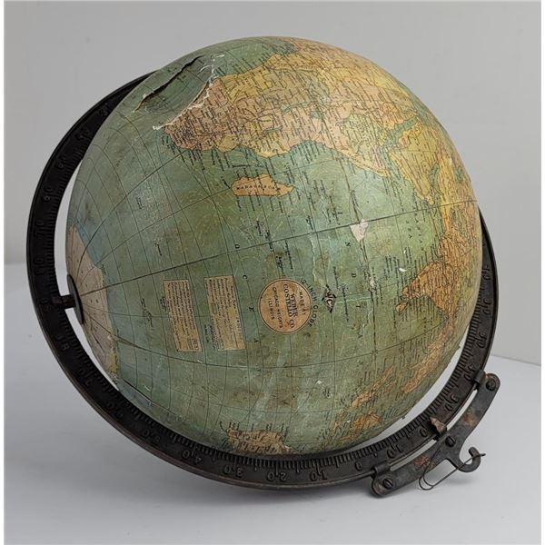 "Antique Weber Costello 12"" Globe"