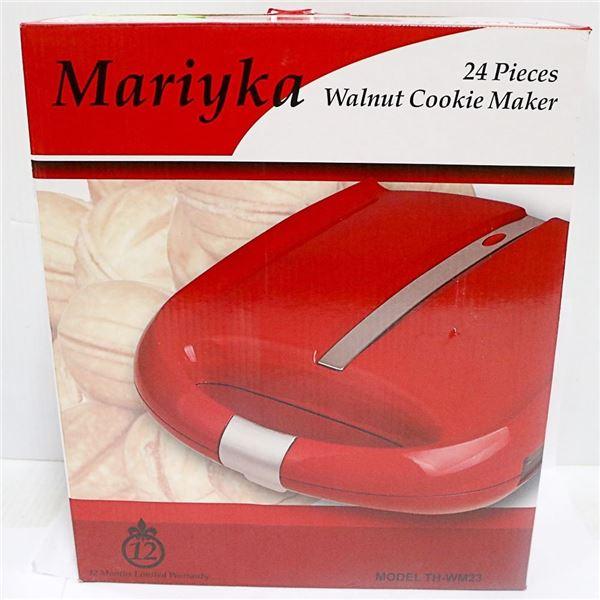 NEW 24 PIECES WALNUT COOKIE MAKER