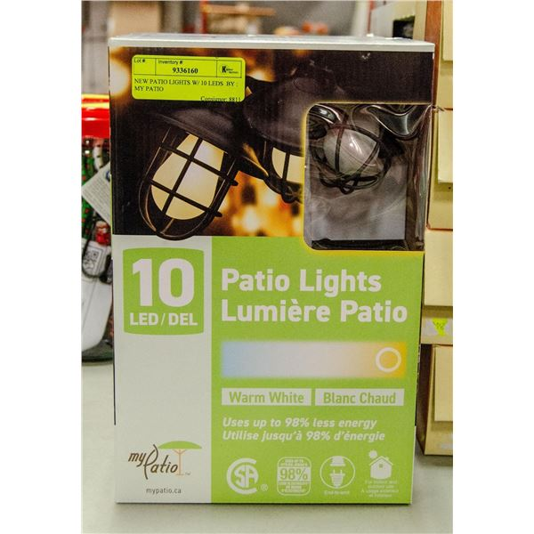 NEW PATIO LIGHTS W/ 10 LEDS  BY : MY PATIO