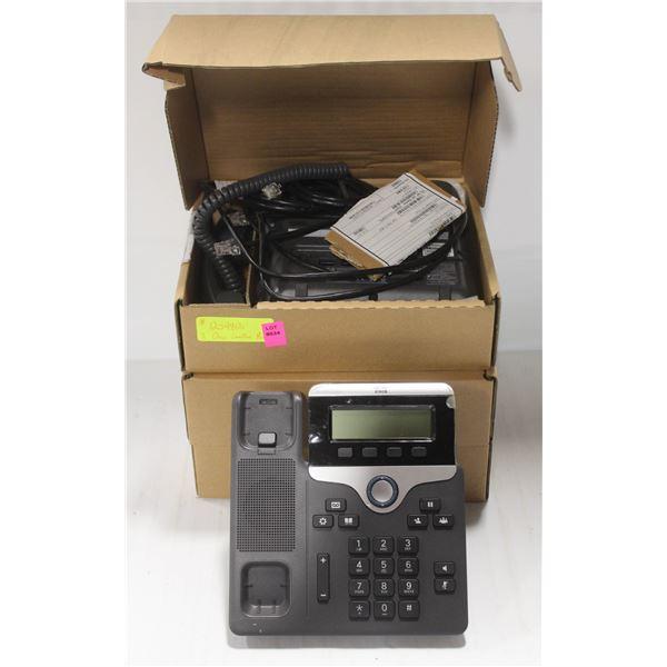 THREE NEW IN BOX CISCO CP-7811 LANDLINE PHONES